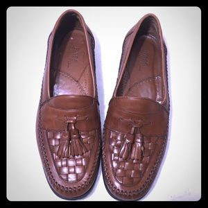 Bass Brown Bellagio Slip On Leather Loafer 11.5M